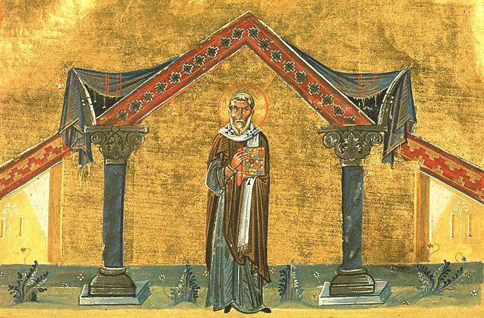Pope Agatho (Menologion of Basil II)