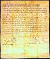 Pope Paschal II, Charter, 1101.jpg