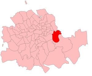 Poplar by-election, 1914 - Poplar in the London County area, boundaries in 1914