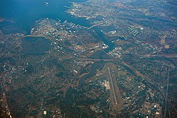 Porltland, Maine, USA, aerial view