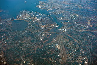 Portland, Maine - Aerial view of Portland