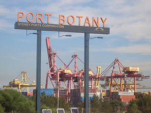 Port Botany (seaport) - The entrance to Port Botany, overlooking Brotherson Dock Number One