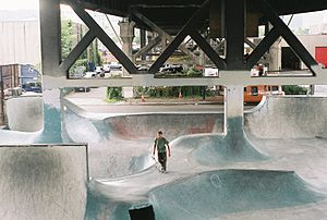 Skatepark - Burnside Skatepark in Portland, Oregon