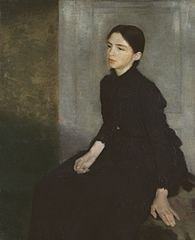 Portræt af en ung pige. Kunstnerens søster, Anna Hammershøi