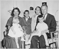 Portrait of Representative Gerald R. Ford, Jr., Wife Betty, and Their Children - NARA - 186844.tif