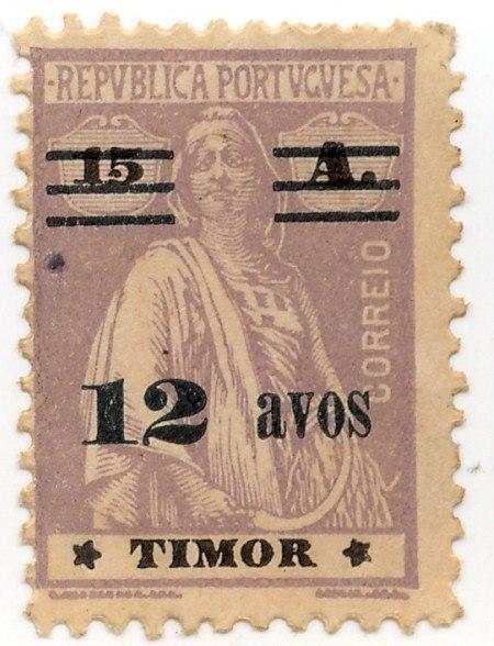 Portuguese Timor stamp 12 (15 ) Avos Ceres