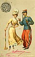 Postcard depicting a man and a woman playing croquet (14808311463).jpg