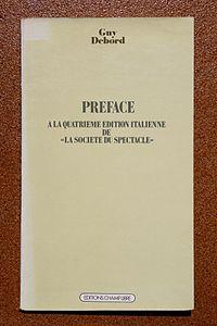 Préface à la quatrième édition italienne de « La Société du spectacle » cover