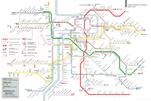 Prague Integrated Transport - Map of metro and tram network in Prague, 2013