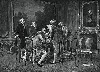 Diplomacy in the American Revolutionary War - Signing of the preliminary Treaty of Paris, November 30, 1782