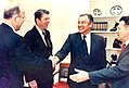 PresidentReagan, Undersec.Defence Richard P. Godwin Thumb.jpg