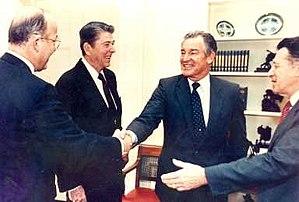 Richard Godwin - Richard P. Godwin with President Ronald Reagan