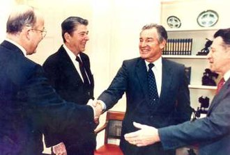 Richard Godwin - Richard P. Godwin with President Ronald Reagan