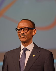 Close up profile picture of Paul Kagame, October 28 2014, in Busan, Korea