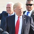 President Trump stops by 193rd Special Operations Wing on way to rally 12 (cropped1).jpg