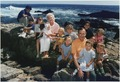President and Mrs. Bush pose with their grandchildren on the rocks at Walker's Point in Kennebunkport, Maine - NARA - 186395.tif