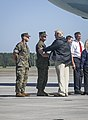 President meets leaders of storm-ravaged North Carolina at MCAS Cherry Point 004.jpg