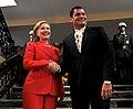 Presidente ecuatoriano, Rafael Correa recibe a la Secretaria de Estado de EUA, Hillary Clinton en Carondelet (4684954847).jpg