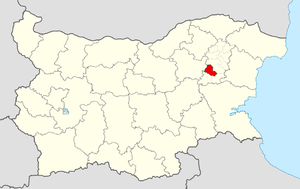 Veliki Preslav Municipality - Image: Preslav Municipality Within Bulgaria
