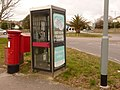 Preston, postbox No. DT3 127 and phone, Preston Road - geograph.org.uk - 1708196.jpg