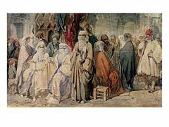Preziosi - Figures in the Bazaar Constantinople