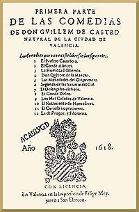 III SONETOS : INTRODUCCIÓN - HISTORIA - ESTRUCTURA POÉTICA - SELECCIÓN DE SONETOS EN CASTELLANO 200px-Primera_parte_de_las_comedias_de_don_Guillem_de_Castro