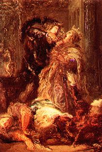 Prince Hamlet kill King Claudius, in Shakespeare's Hamlet.jpg