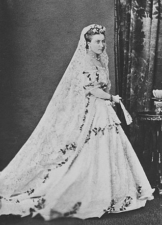 Princess Helena of the United Kingdom - Princess Helena in her wedding dress, 5 July 1866.