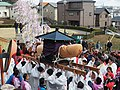 Procession with Ensured Phallus object, Hōnen Matsuri (Tagata Shrine) 1.jpg