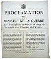 Proclamation du ministere de la guerre 1815.jpg