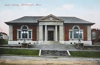Marlborough, Massachusetts - Public library (1903-04), a Carnegie library designed by Peabody & Stearns