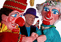 Punch and Judy and their baby with Prof Glyn Edwards 2007.jpg