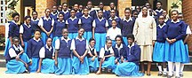 Zambia-Education-Pupils at St Monicas Girls Secondary School