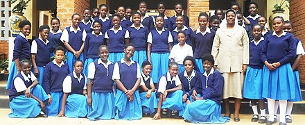 Pupils at the St Monica's Girls Secondary School in Chipata, Eastern Province Pupils at St Monicas Girls Secondary School.jpg