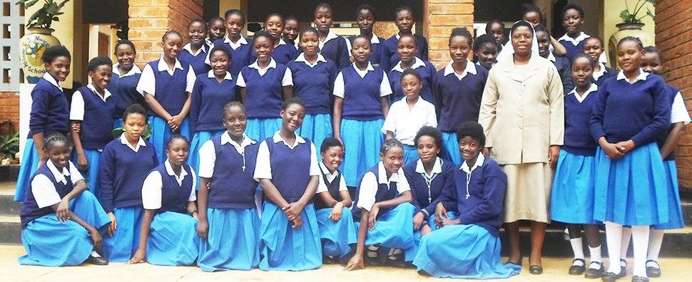 Pupils at St Monicas Girls Secondary School