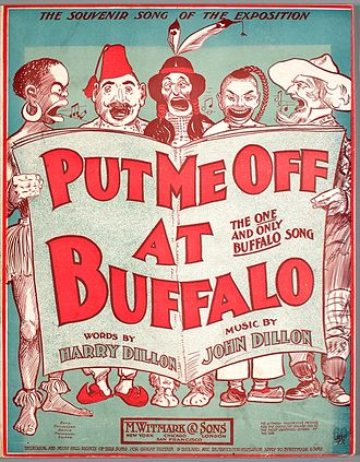Put Me Off at Buffalo - 1901 sheet music cover