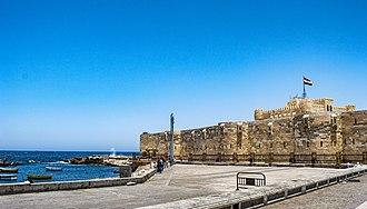 Citadel of Qaitbay - Side view of Qaitbay Citadel
