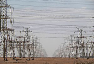 Energy technology - High-voltage lines for the long distance transportation of electrical energy