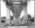Queensland State Archives 3620 South approach view underneath steel spans showing lower lateral system Brisbane 11 February 1938.png