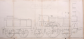 R. and W. Hawthorn 2-2-2 locomotive and tender No. 224 Paris and Versailles Railway 1838 right elevation.png
