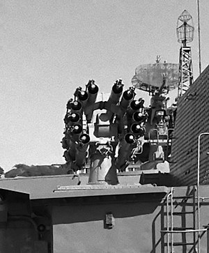 RBU-6000 - A RBU-6000 rocket launcher aboard a Udaloy class destroyer