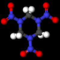 Гексоген: вид молекулы