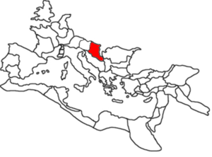 Position of the Roman province of Pannonia