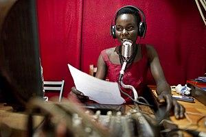 Telecommunications in Sudan - Radio broadcaster in Yei, 2010