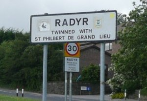 Radyr - Image: Radyr sign