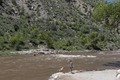 Rafters test the rapids of the Animas River, just below Durango, the seat of La Plata County in southern Colorado LCCN2015632831.tif