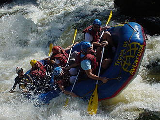 Paddling - Rafting in Brazil.