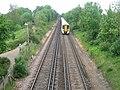 Railway to Whitstable and train heading to Faversham - geograph.org.uk - 1320905.jpg
