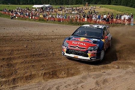 Dani Sordo driving at Rannakylä shakedown in Muurame.