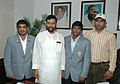 Ram Vilas Paswan gave a warm send off to three Indian wrestlers, Sushil Kumar, Yogeshwar Dutt and Rajiv Tomar to participate in the Beijing Olympics, at a function, in New Delhi on August 13, 2008.jpg